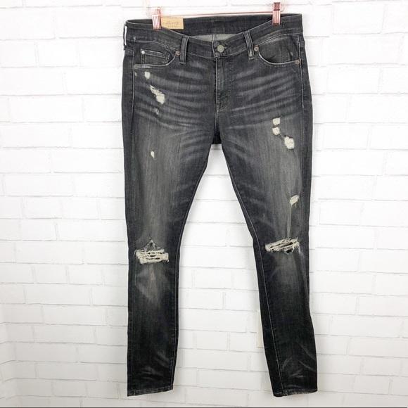 Ralph Lauren Denim - Ralph Lauren Ripped Black Skinny Jeans Size 30